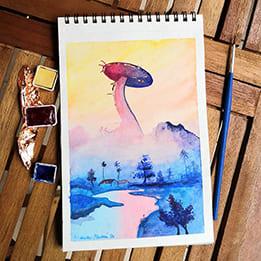 Akvarelový Horizon Zero Dawn